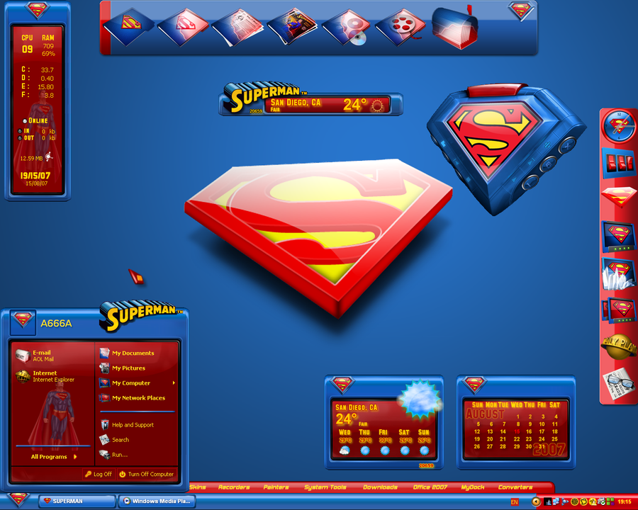 Ultimate Superman Desktop by a666a