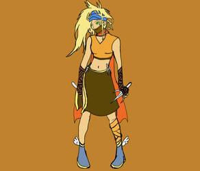 Rikku Dressphere I - Ninja by Crystal-Artist