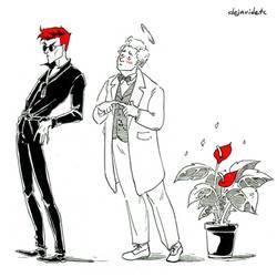 Good omens doodles 2 by Dejavidetc
