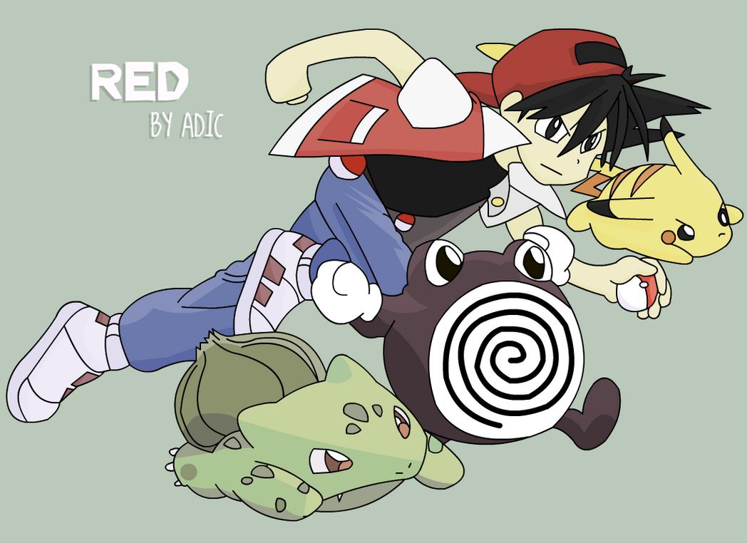 Red - Pokemon Manga by adic-winchis