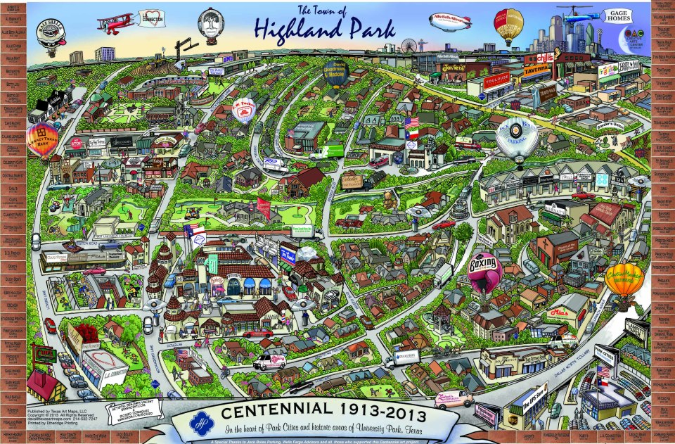 Map of the town of highland park tx by richard e dominguez on deviantart - Highland park wallpaper ...