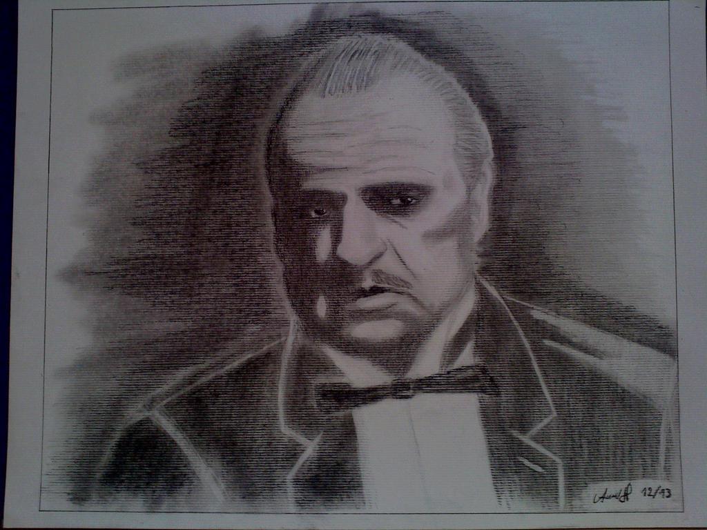 how to draw don vito corleone