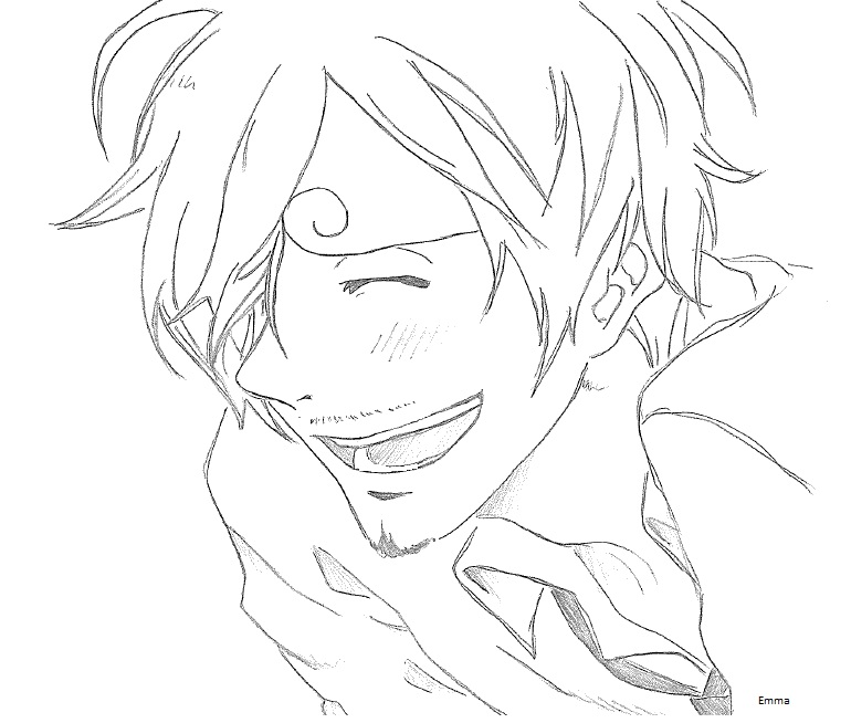 Sanji's smile by Emma-is-drawing