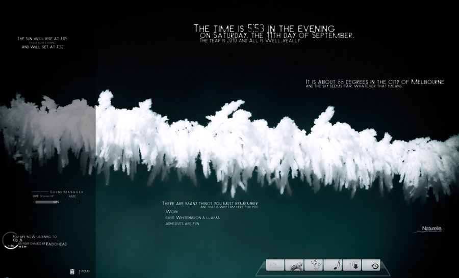 current desktop as of 9.11.10