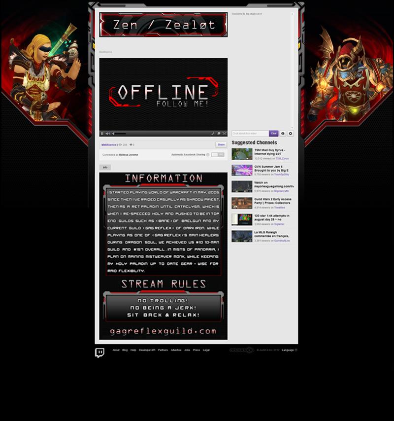 Zen Twitch TV Layout by Melificence on DeviantArt