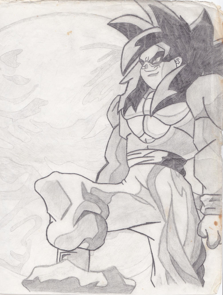 how to draw : super sayian 4