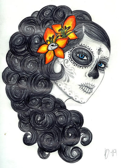 La Catrina naranja by Skeksy