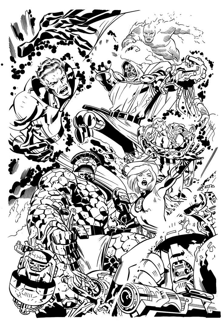 Fantastic Four  Nelson Inks by NelsonInks