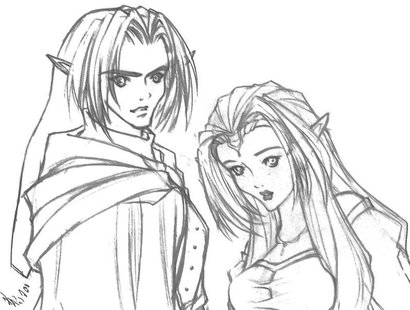 Link and Zelda by KrystalLynn5