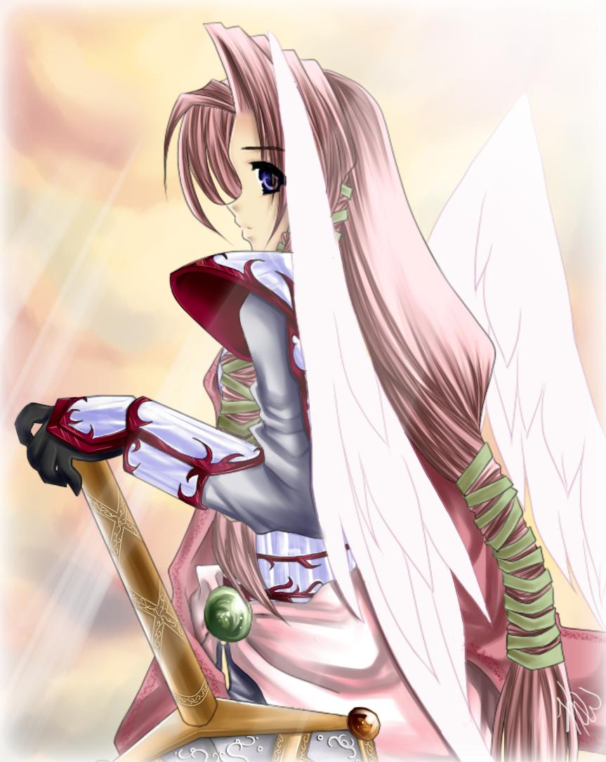 Random Angel Knight OC by KrystalLynn5