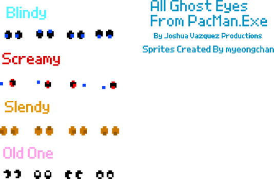 All Ghost Eyes From PacMan.Exe