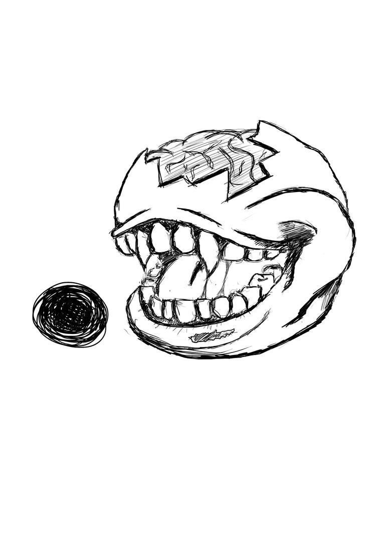 Undead Pac-man by Amphix