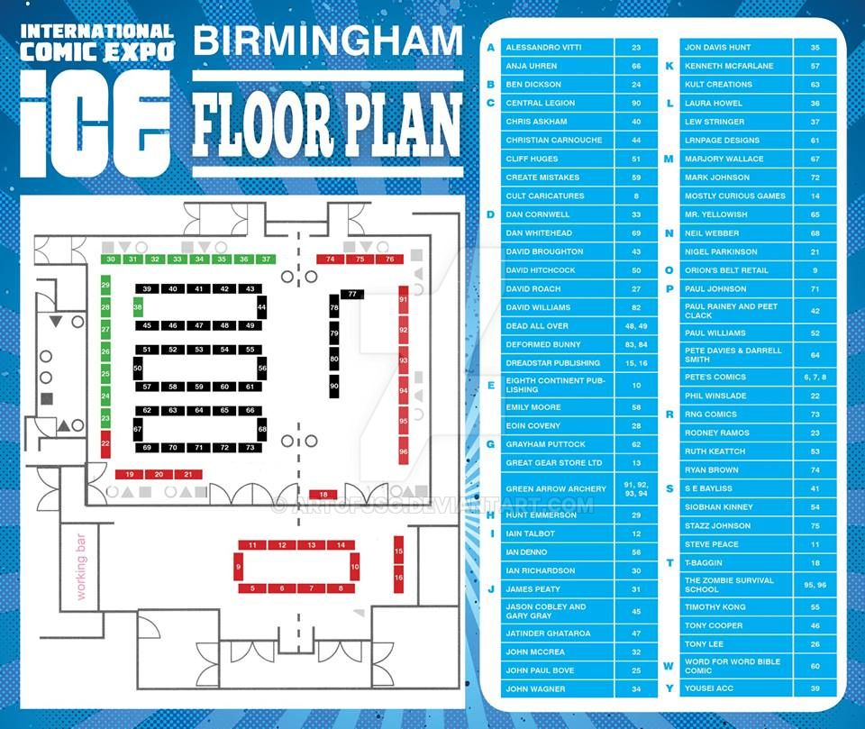 ICE 2018 Table layout We are on Table Location 47 by ARTOFJSG