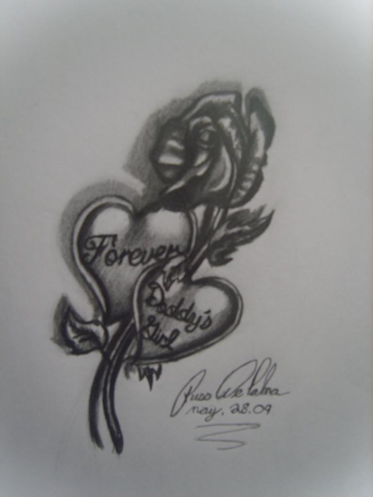 Daddys girl tattoo designs for Girlfriend tattoo designs