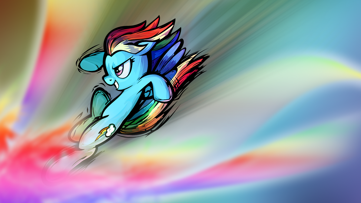 Rainbow Kick [Wallpaper] by Sn0wst0rm90