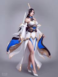 xianxia Lightsaber beautiful silky asiangirl Pale by JINJIULU