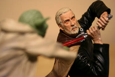 Duel With Dooku by JasonTD