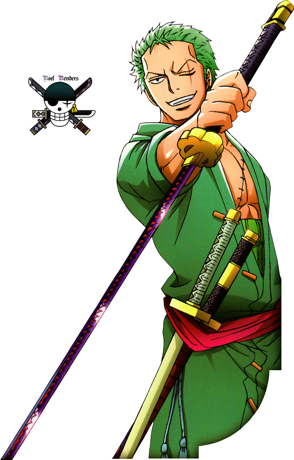 One piece renders by roronoaroel on deviantart - One piece logo zoro ...