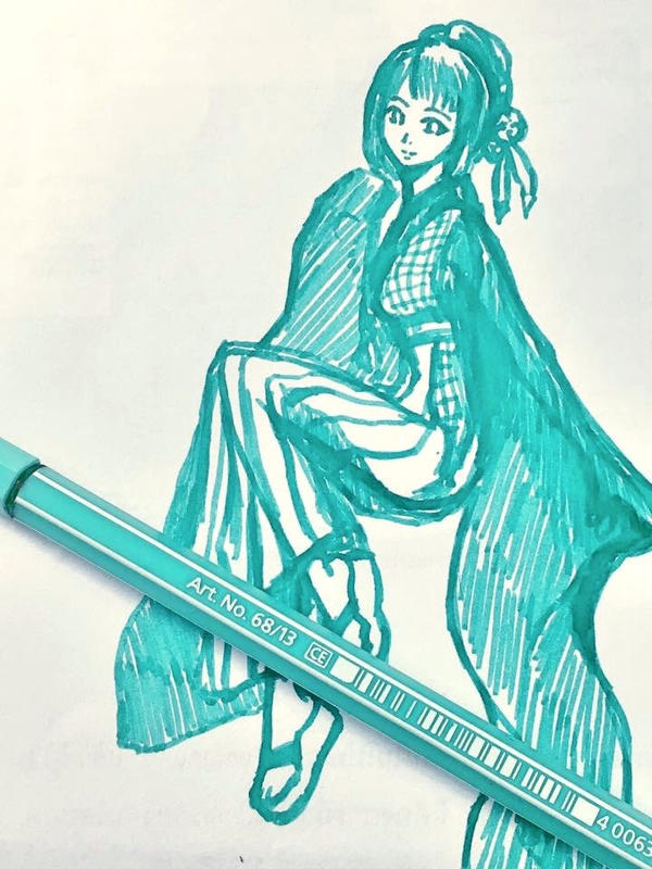 Mint and Hakama by awasetsu
