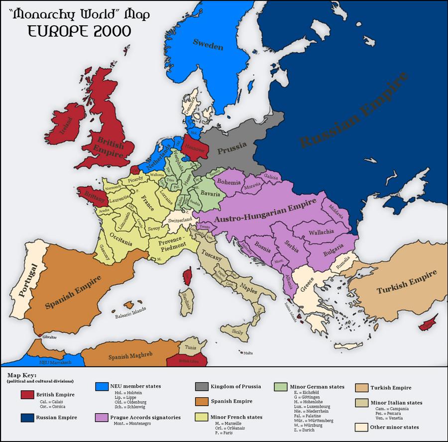 Monarchies in europe