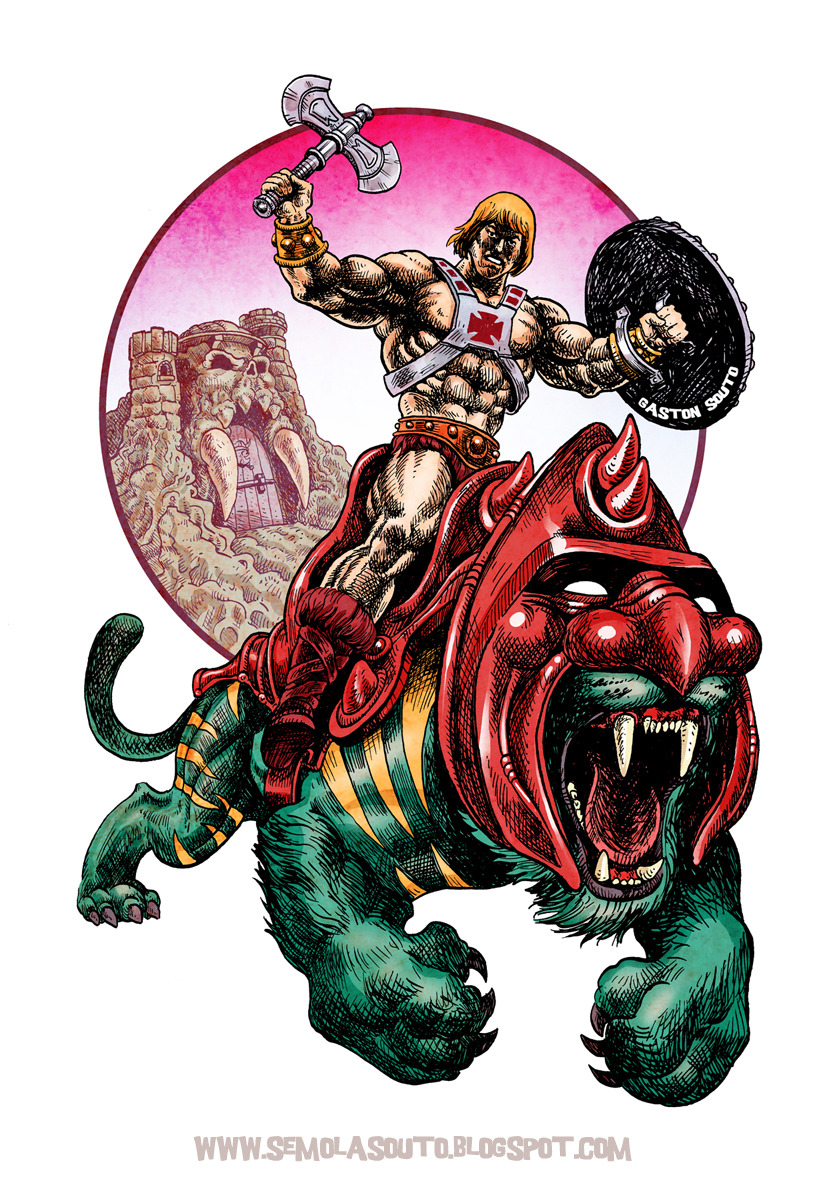 he-man and battlecat by gordosemola
