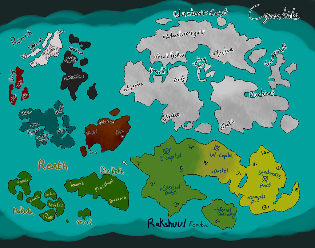 DnD World Map - Vectrice by DuelingAssailant on DeviantArt