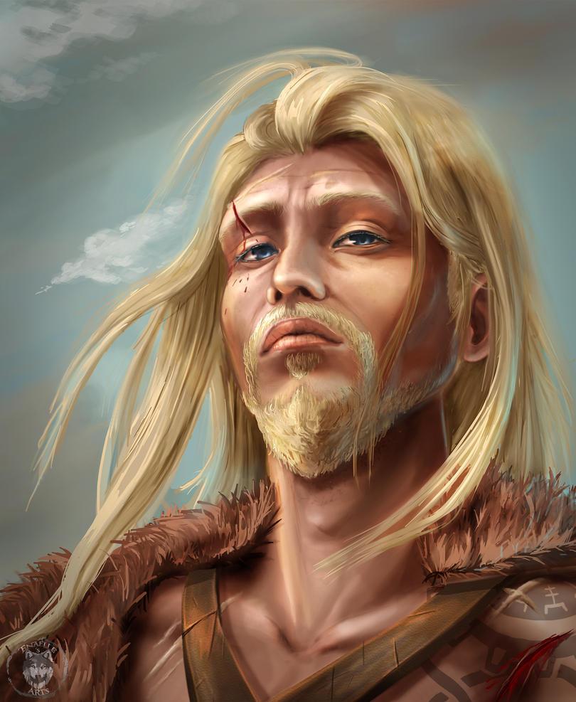 After The Battle Balance - Man Portrait by Enamaeris