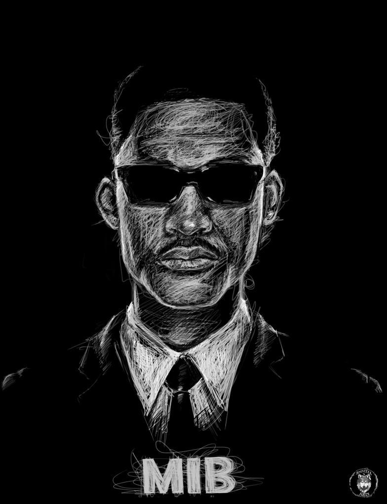 Scribbling  Men In Black by Enamaeris