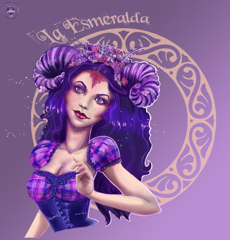 La Esmeralda Fanart by Enamaeris