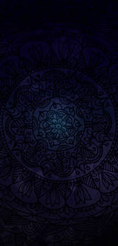 Mandala Dark Blue