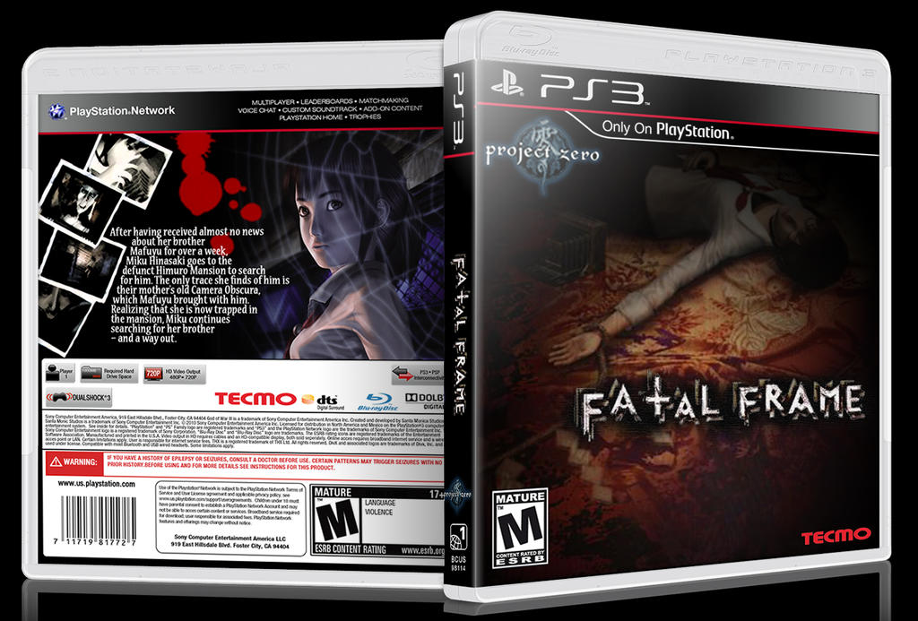 Fatal Frame - Ps3 Box Art by Inochi-PM on DeviantArt