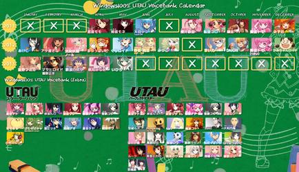 Windows100% UTAU Calendar