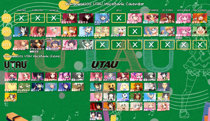Windows100% UTAU Calendar by Inochi-PM