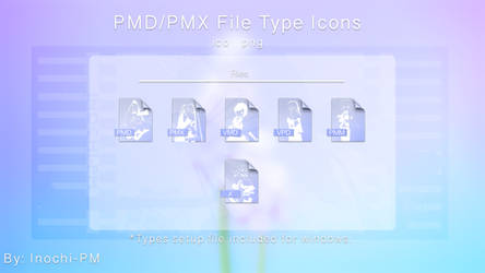 PMX/PMD Editor Icons by Inochi-PM