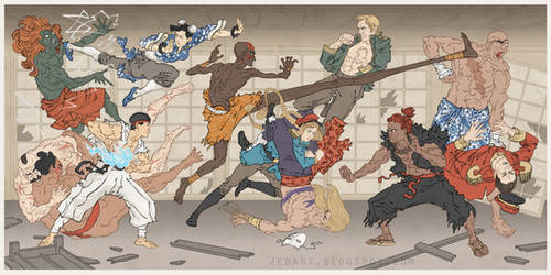 Street Fighter Japanese Ukiyo-e