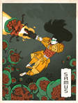 Samus as a Japanese Ukiyo-e