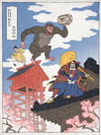Donkey Kong as a Japanese Ukiyo-e