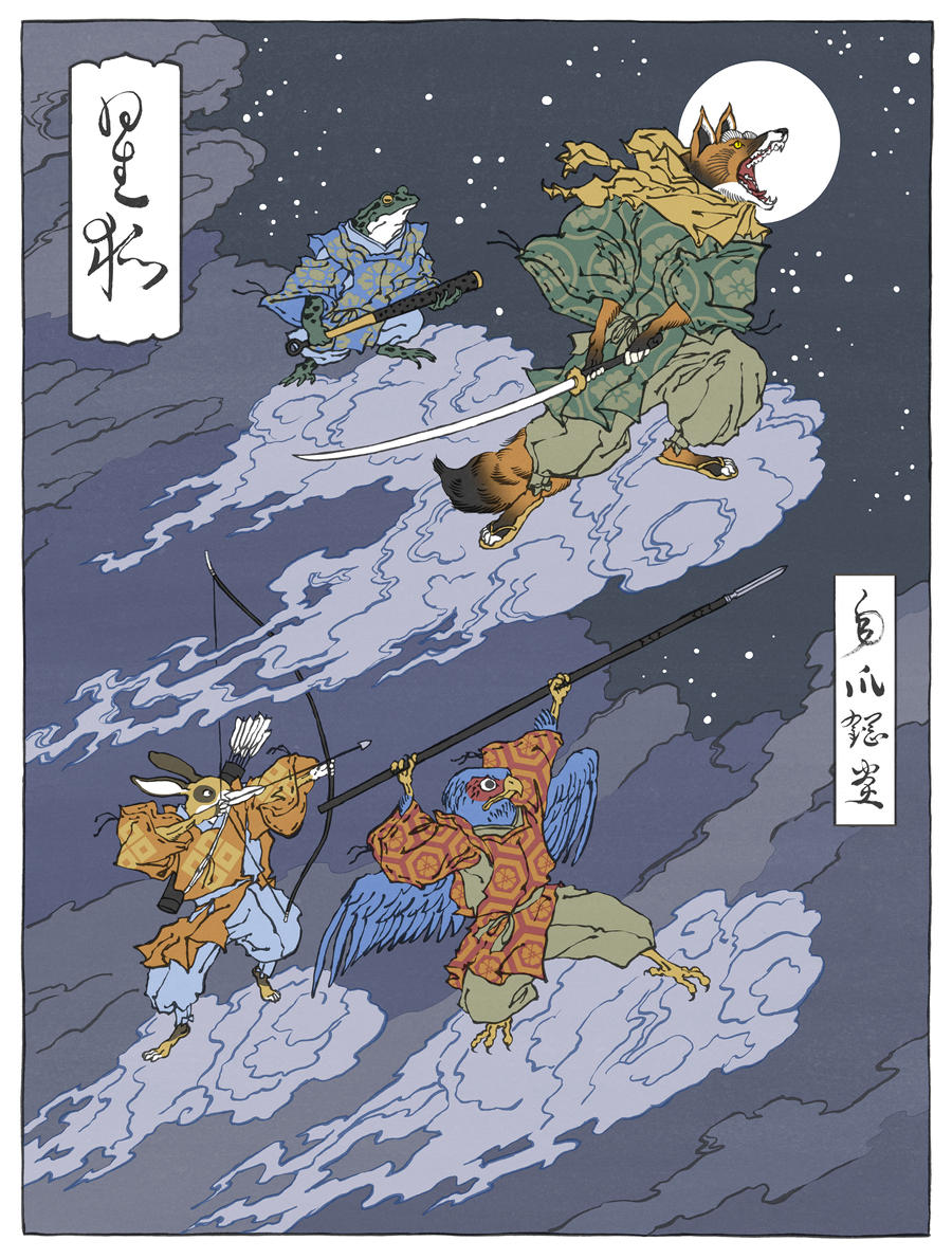 Star Fox as a Japanese Ukiyo-E