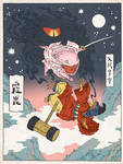 Kirby as an Ukiyo-e