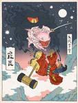 Kirby as an Ukiyo-e