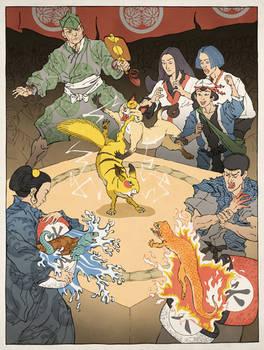Pokemon as an Ukiyo-e