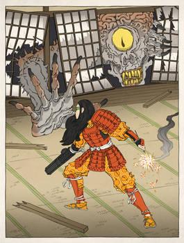 Samus Aran as an Ukiyo-e