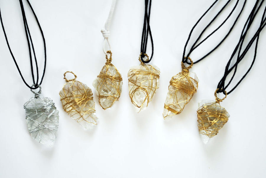 Wire wrapped crystal pendant by 11faced on deviantart wire wrapped crystal pendant by 11faced aloadofball Gallery