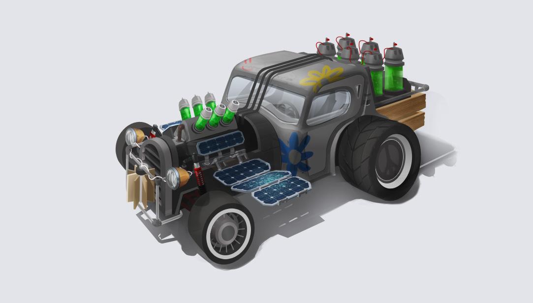 Vehicle design - eco hotrod by MittMac
