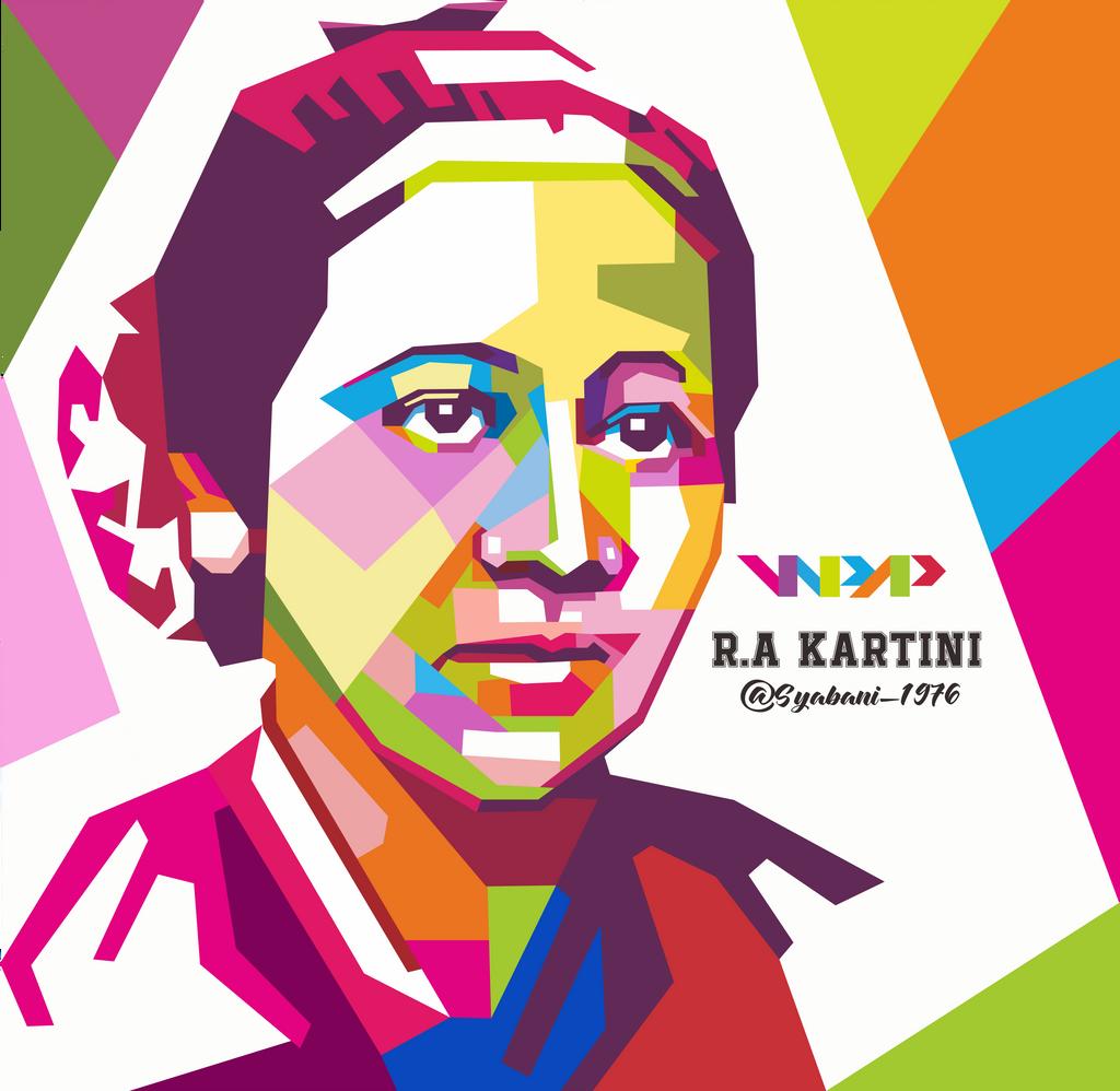 WPAP R.A Kartini by syabani1976 on DeviantArt