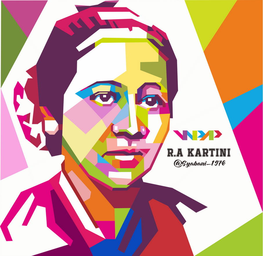 WPAP R.A Kartini by syabani1976 on DeviantArt