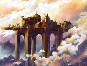 Golden bridge by AgataWeegmann