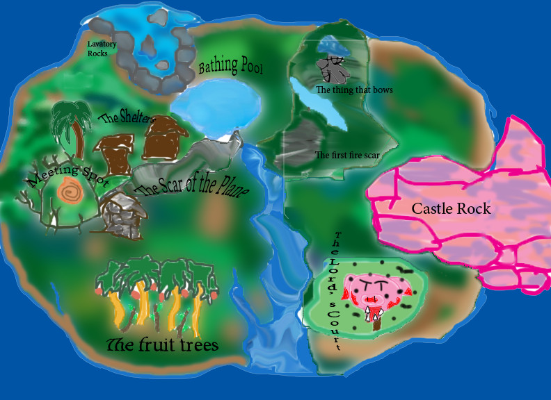 Lord of the Flies island map by dinjzie on DeviantArt