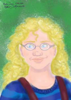 Water Color Brush Portrait of Romana
