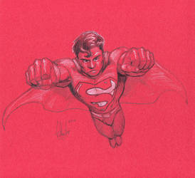 Superman RED by grantshorterart